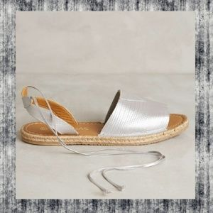 Anthropologie Issis Espadrille Ankle Tie Sandals